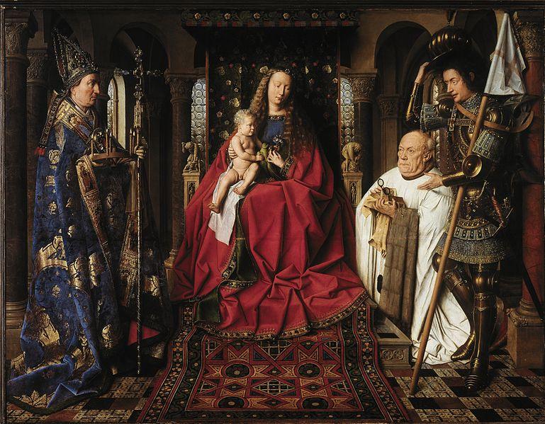 Jan van Eyk - Madonna met de kannunik Joris van der Paele