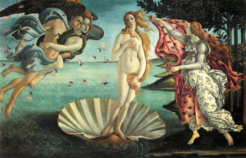 Sandro Botticelli - De Geboorte van Venus